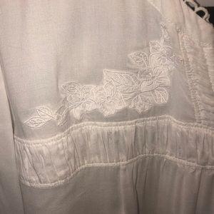 LOFT Tops - Loft 20 plus white peasant shirt boho